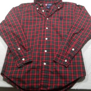 Chaps Shirts & Tops - 👩🏫Red and Green Plaid Button Down